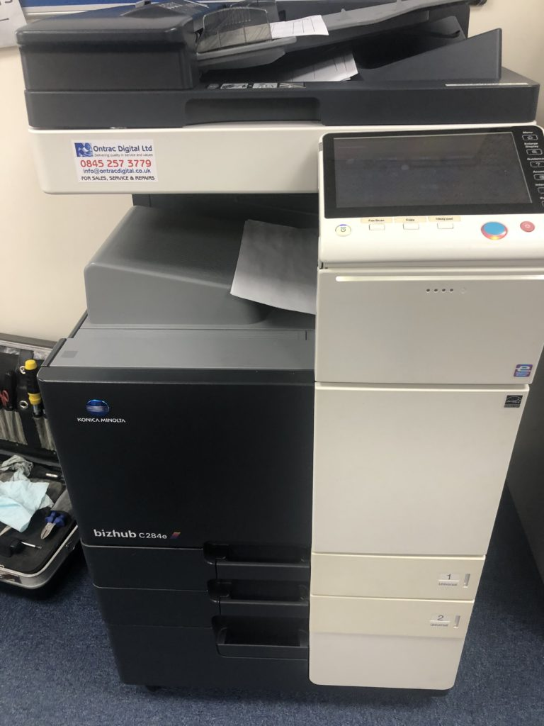 Konica Minolta Printer Being Repaired